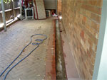 Pavers lifted up and sprayed (Click to enlarge)